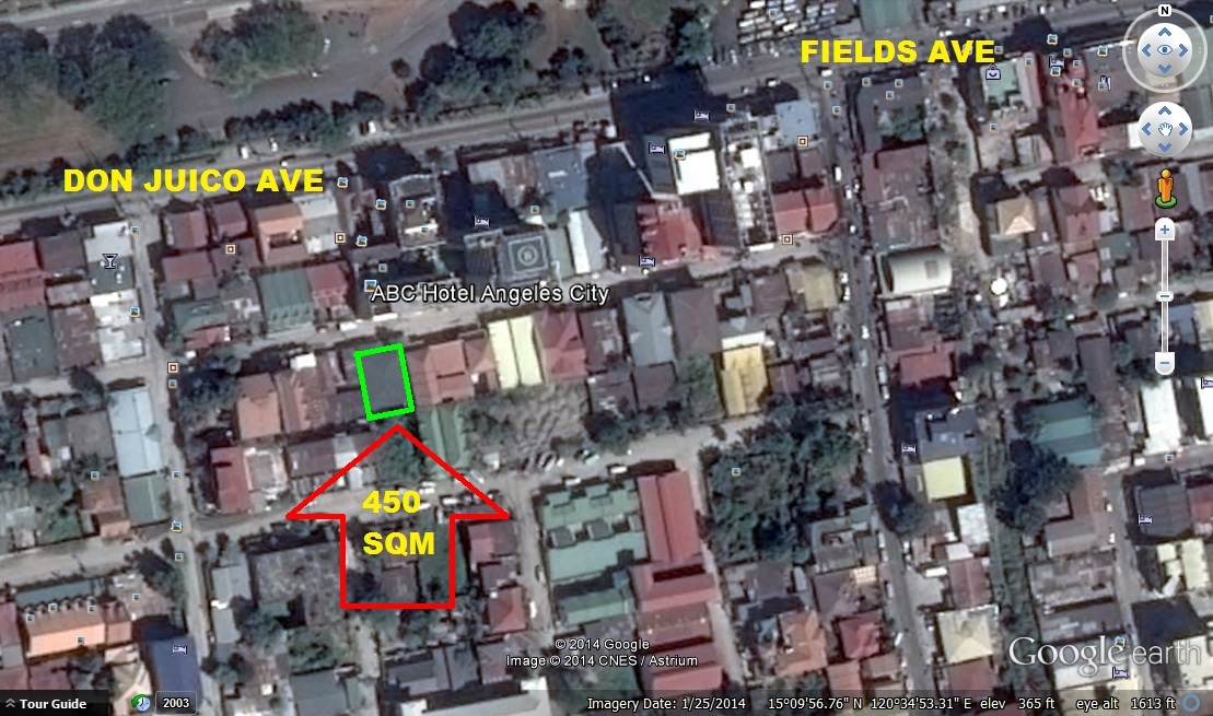 Commercial Lot for Sale Angeles City near Fields Avenue Ref:Ad# 0000576