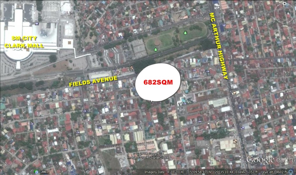 Commercial Lot for Sale Angeles City near Fields Avenue! Ref# 0000590