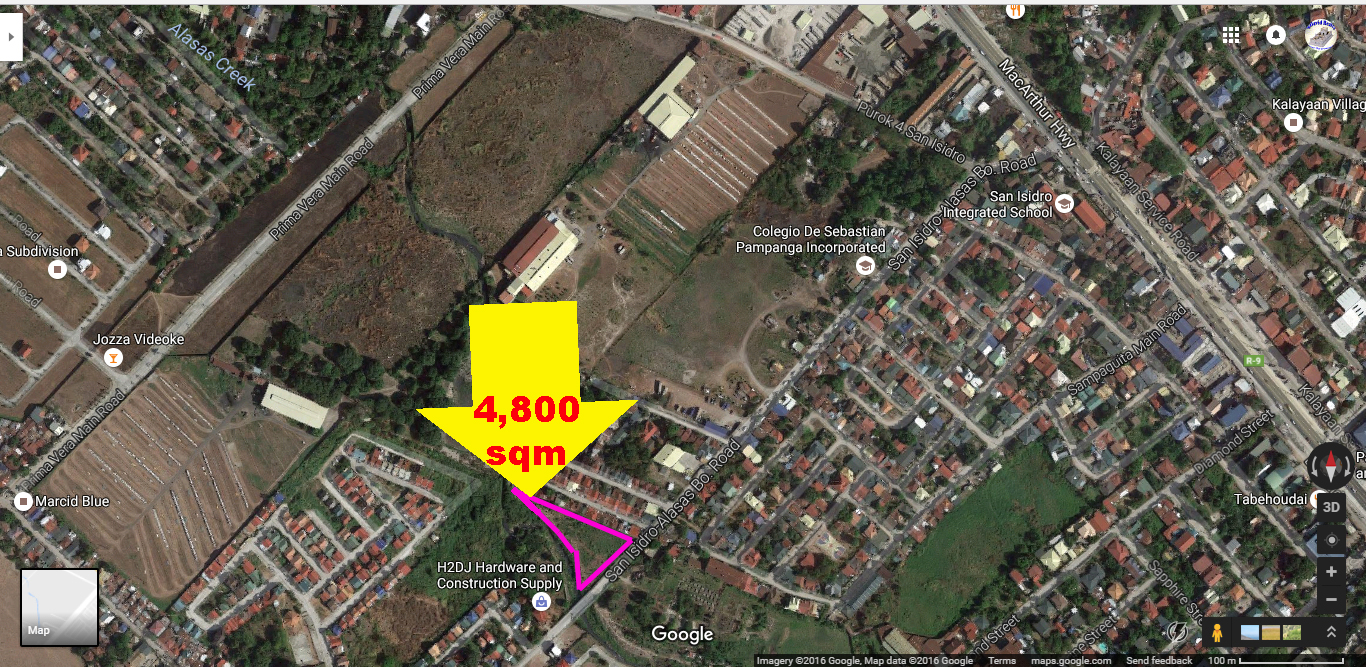 Industrial Lot for Sale San Fernando Pampanga Ref# 0000817