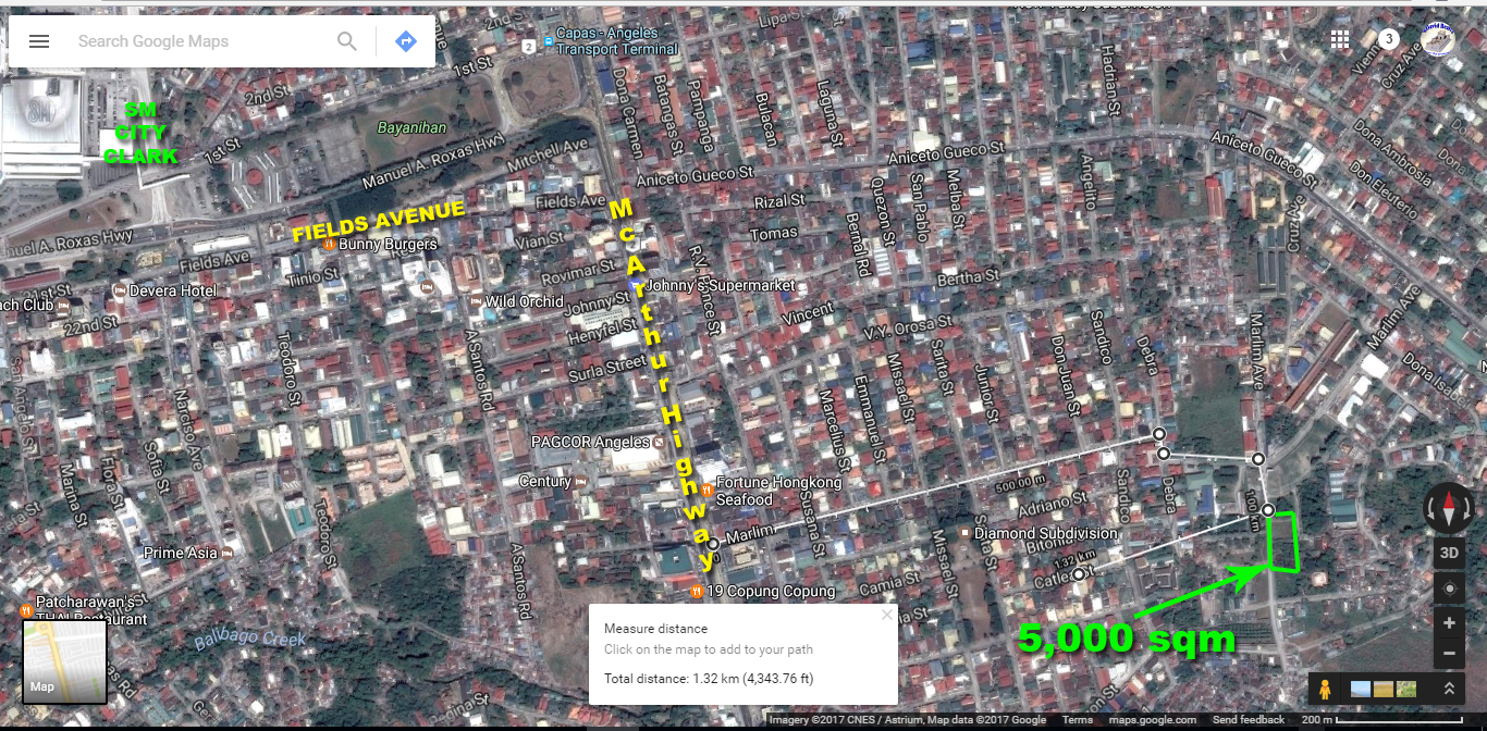 Half hectare Lot for Sale Angeles near Clark #0000846