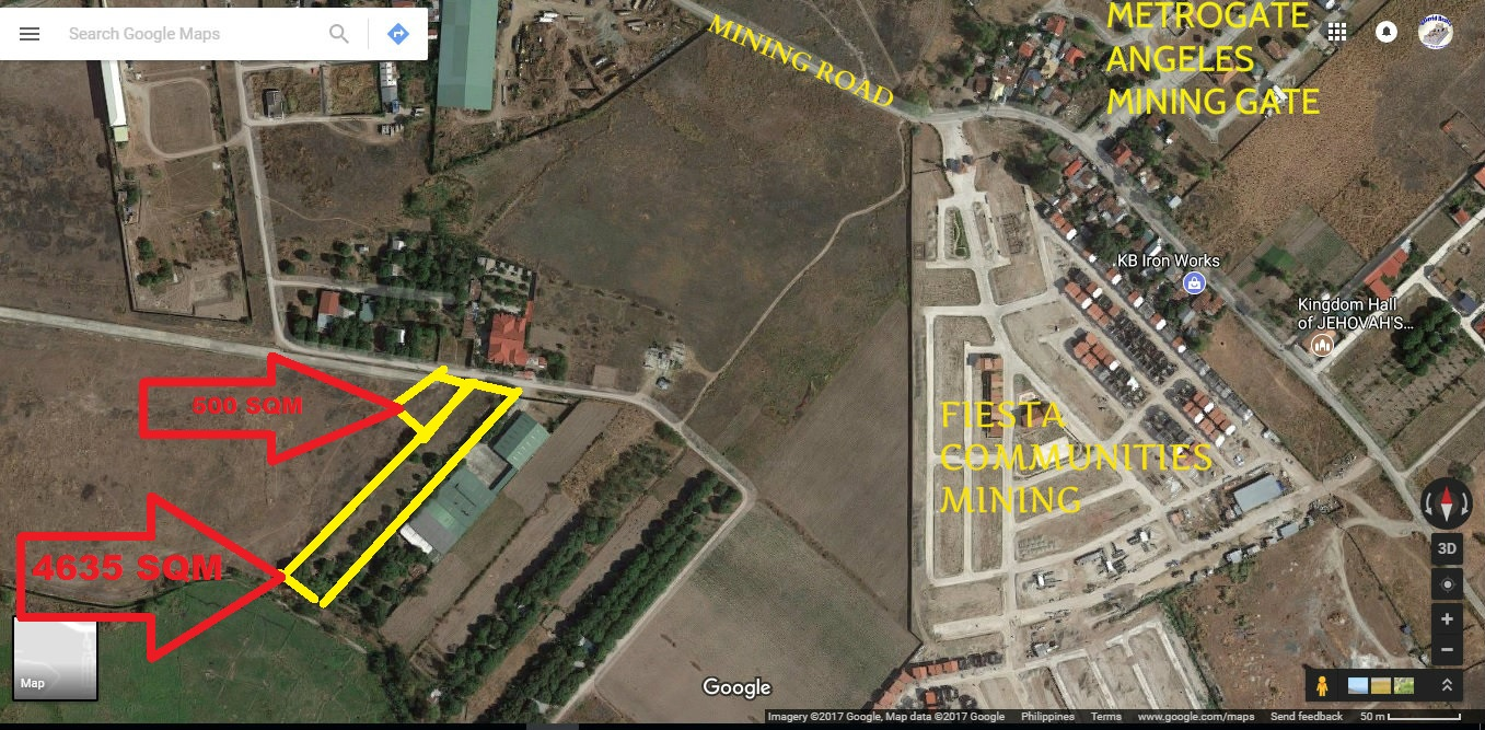 SOLD! 5135 SQM Lot Angeles City Mining #0000859