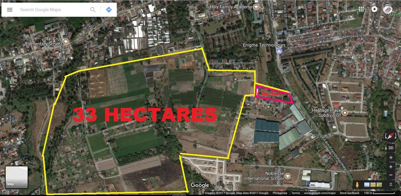 34 Hectares Rawland Fil-Am Friendship Highway Angeles City #0000862