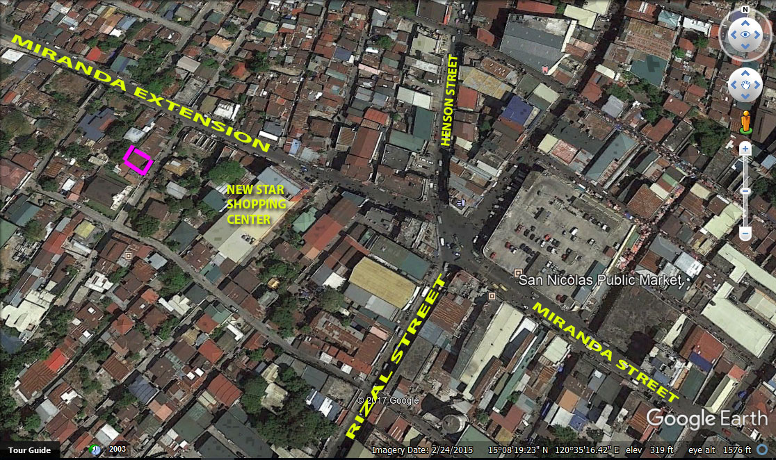 Lot for Sale Angeles City Downtown #0000863
