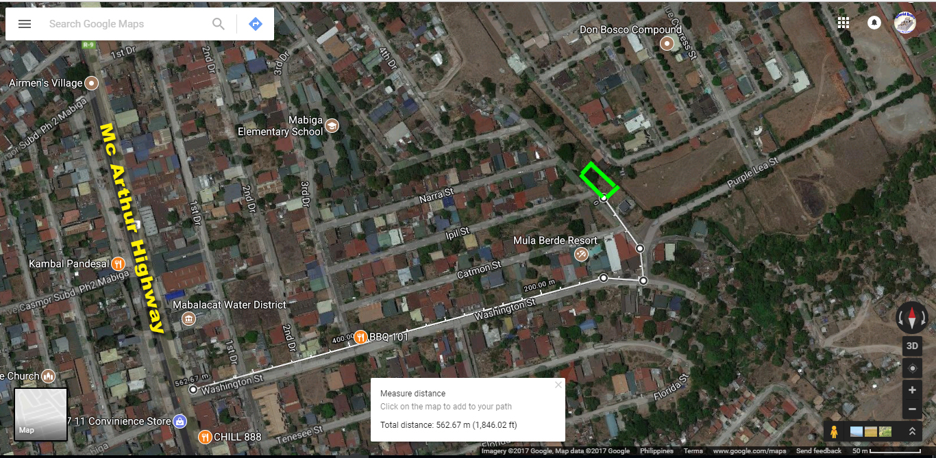 375sqm Lot for Sale Mabalacat City Mabiga P1.5M only! #0000878